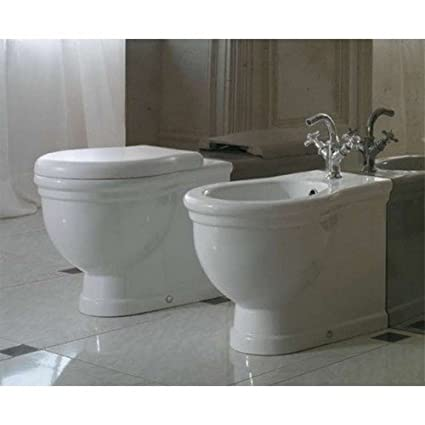 Sanitari Classici Filoparete Ceramica Globo Paestum WC + BIDET + ...