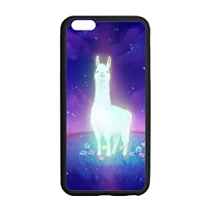 Custom Shiny Alpaca DIY Design Protective Rubber Cover Case for iphone6 Plus 5.5 Inch (Laser Technology)