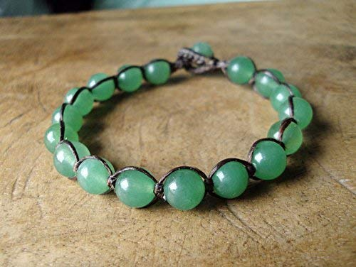Bracelet for Men Gift for Women 8mm and 10mm Grade AAA Natural Smooth Mashan Jade Gemstone Beaded Bracelet Gift for Husband.