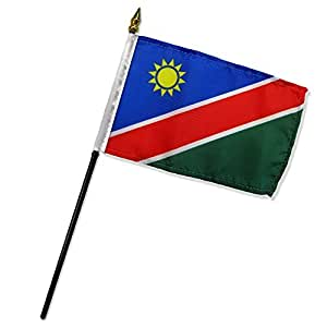 """Namibia 4""""x6"""" bandera de escritorio Stick (sin base)"""