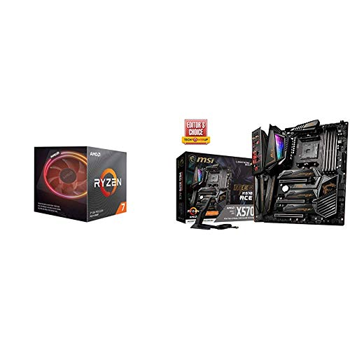 AMD Ryzen 7 3800X 8-Core, 16-Thread Unlocked Desktop Processor with Wraith Prism LED Cooler with MSI MEG X570 ACE Motherboard