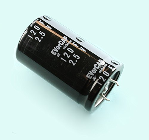 Snap In Capacitor ((FG #77) Nichicon JC Evercap Supercapacitors Ultracapacitors 2.5volts 120F)