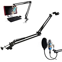 Microphone Suspension Boom Scissor Arm Stand Holder For Studio Broadcast