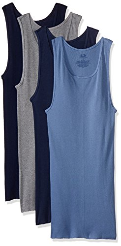 Fruit of the Loom BL2601C Camiseta de Tirantes para Hombre, 4 piezas, Multicolor, M