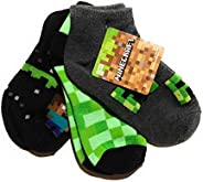 Minecraft Boys Low Cut Sock, Pack of 3 (shoe size 3-6)