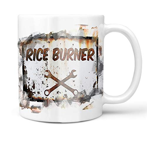 Neonblond 11oz Coffee Mug Rusty old look car Rice burner with your Custom Name