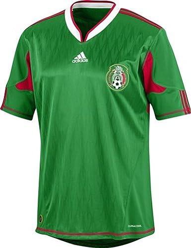 adidas – Camiseta de fútbol de la selección Mexicana 10/11 (Partite (Casa), Blanco: Amazon.es: Deportes y aire libre