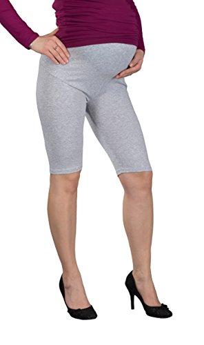 Jandaz® - Leggings de invierno para premamá, algodón, varios colores Short Grey Melange