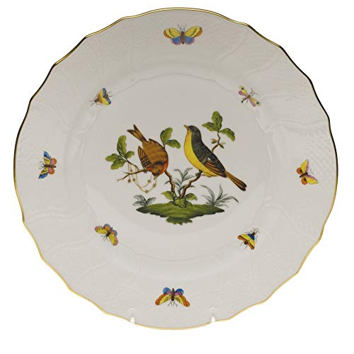 Herend Rothschild Bird Porcelain Dinner Plate Motif #7