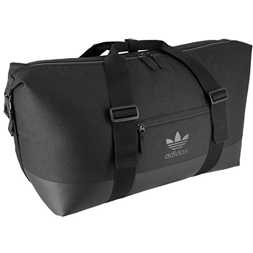 adidas Unisex Originals Weekender Duffel Bag, Black/Black, One Size