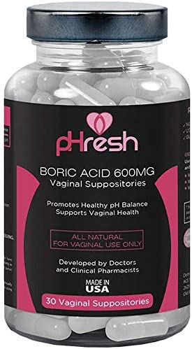 Boric Acid Suppositories Vaginal 600 mg pHresh...