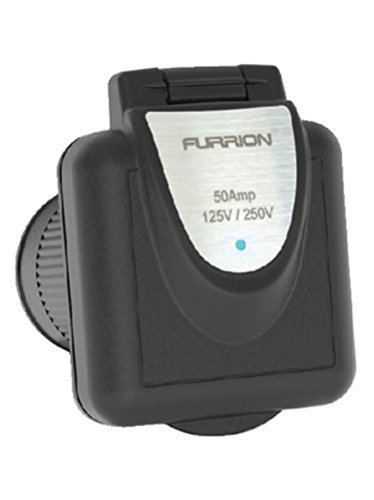 Furrion Ltd 50 A 125/250 Inlet Square, Black F52INS-BS by Furrion