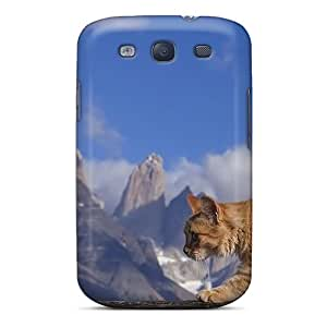 First-class Case Cover For Galaxy S3 Dual Protection Cover Maine Coon Kitten