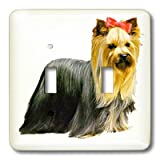 lsp_520_2 Dogs Yorkshire Terrier - Yorkshire Terrier - Light Switch Covers - double toggle switch