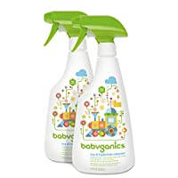 Babyganics Toy & Highchair Cleaner, 17-Fluid Ounce Bottles (Pack of 2), Packa...