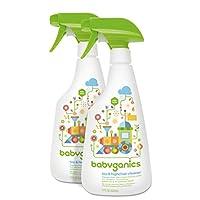 Babyganics Toy & Highchair Cleaner, 17-Fluid Ounce Bottles (Pack of 2), Packa...