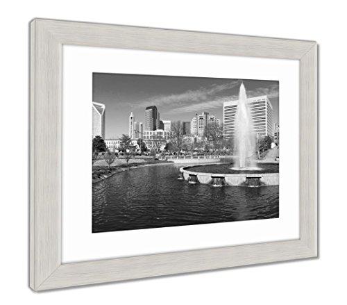 (Ashley Framed Prints Charlotte Nc, Wall Art Home Decoration, Black/White, 30x35 (frame size), Silver Frame, AG6347887)