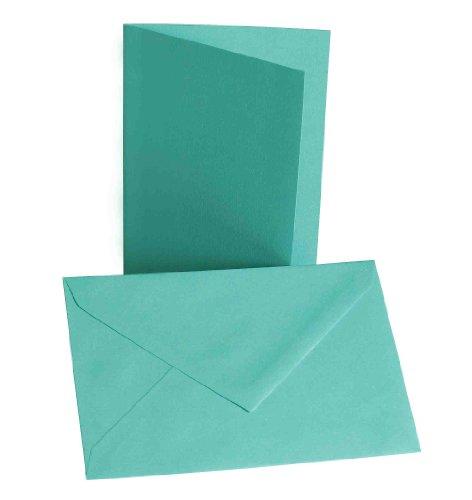 Faltkarten mit Umschlag B6 türkis