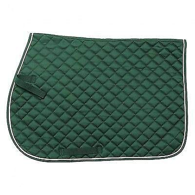 Tough 1 EquiRoyal Square Quilted Cotton Comfort English Saddle Pad, Hunter ()