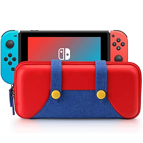 Carrying Case Compatible with Nintendo Switch - Protective Hard EVA Shell Portable Travel Carry Case Storage Bag for Nintendo Switch Console & Accessories #3094 (Red with - Game Board Top Shop