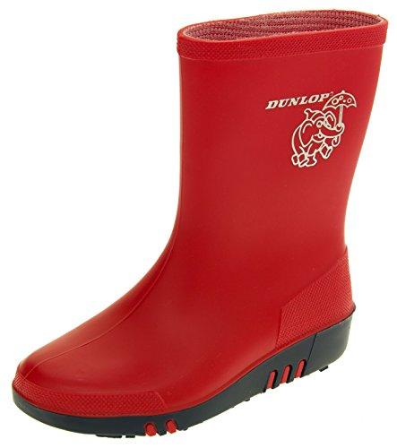 Dunlop Boys Girls Kids Rainy Day Elephant Wellington Boots
