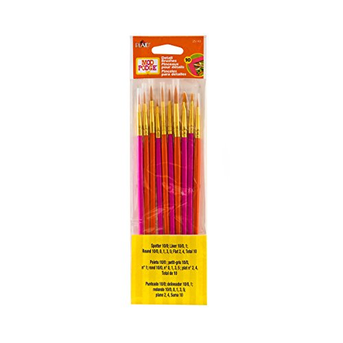 Mod Podge Brush Set, 25140 (10-Piece) ()