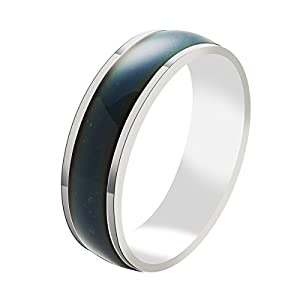 Godyce Mood Ring for Men Women Size 7-11 - Stainless Steel Jewelry With Gift Box