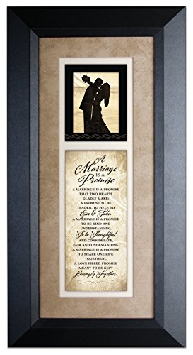 Marriage Promise ...Wood Framed Art with - Marriage Framed