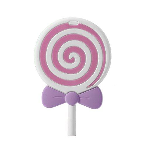 (Ruzida Lollipops Shape Silicone Chew Bead Teethers Baby Toys DIY Necklace Pendant Teething Beads Food Grade (PK))