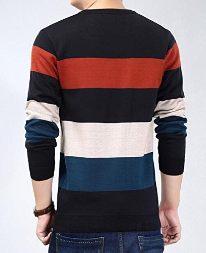 amp;S Quarter Long Rugby sleeve Mens 8 Zip M amp;W Striped sweater U7ABBRx