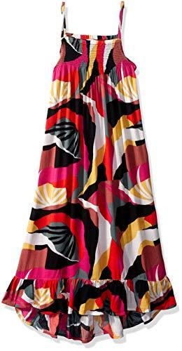 Billabong Girls' Girls' Maxed Out Printed Maxi Dress Multi Medium ()