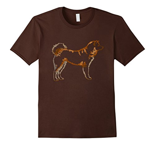 Men's Akita Inu Dog T Shirt Tshirt tee Medium Brown - Akita Inu Dog