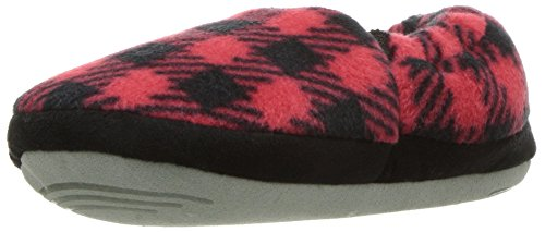 (Stride Rite Boy's Hunter Buffalo Plaid A Line Slipper Shoe, Red, 9/10 M US)