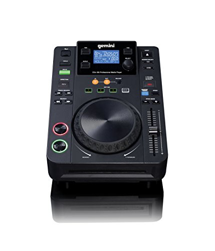 Gemini CDJ Series CDJ-300 Professional Audio CD, CD-R, MP3 Compatible DJ Media Player with LCD Display and 5-Inch Touch Sensitive Jog (Mp3 Dj System)