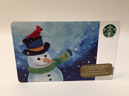 Aloha Gift Card (2016 Christmas Snowman with Cardinal Starbucks Gift Card No Value)