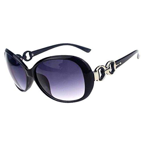 Classique Lunettes Uv400 Shades Gris Noir de de de Femme surdimensionné et Design Glp shining Soleil Bagiid UqxgvTwx