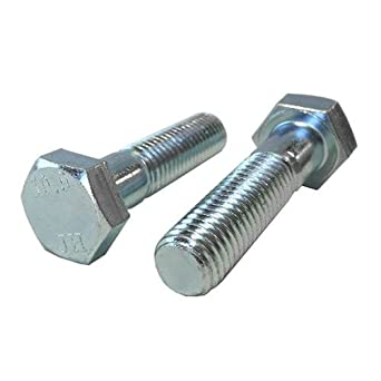 Quantity: 100 pcs Thread Size: M8 Metric Steel Metric Class 8.8 Zinc Plating - Coarse Thread Metric M8-1.25 x 25mm Hex Head Cap Screws Length: 25mm Metric Fully Threaded