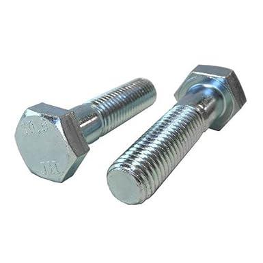 Quantity: 50 pcs M12-1.75 x 25mm Hex Bolt//Coarse Thread//Fully Threaded//DIN 933 Newport Fasteners M12 x 25mm Hex Cap Screw Metric Class 10.9 Zinc Plated Steel