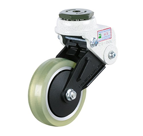 FOOTMASTER-GDS-100-ASS-LUD-4-Diameter-Polyurethane-Shock-Absorbing-Stem-Caster-Swivel-Two-Precision-Bearing-6-14-Mounting-Height-Stem-Mounted-M12-x-175P-220-lb-Capacity-Range