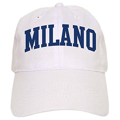 CafePress - MILANO Design (Blue) - Baseball Cap with Adjustable Closure, Unique Printed Baseball Hat Milano Cap