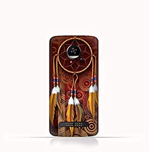 Motorola Moto Z2 Play TPU Silicone Case With American Feathers Design