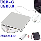 NOLYTH External USB CD DVD Drive USB C Slot-in External CD/DVD Player Burner Drive for Laptop/Mac/Macbook Pro/Air/Windows made with Alumium Alloy supported DVD±RW/CD±RW