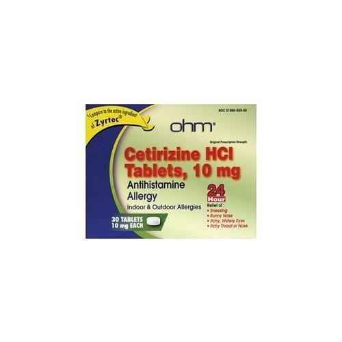 Amazon com: Cetirizine Hci Antihistamine 10 mg 30 Tabs - Buy Packs