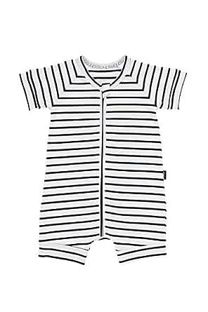 Bonds Baby Zippy - Zip Romper Wondersuit, Black & White Stripe, 0 (6-12 Months)