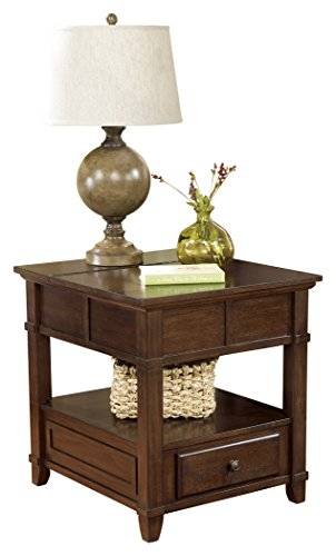 Signature Design by Ashley Gately Rectangular End Table Medium Brown