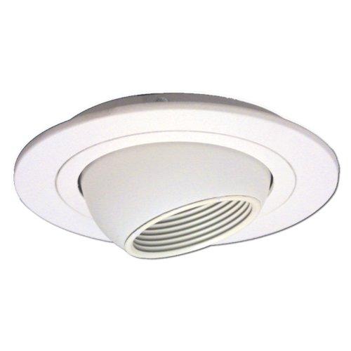 Halo Recessed 1498W 4-Inch Eyeball Trim with Baffle, White (Adjustable Reflector Trim Diecast Voltage)