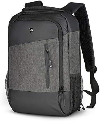 2E Slim Laptop Backpack for Men and Women – Business Computer Backpack for 15.6 inch Laptops Travel Laptop Backpack Water Resistant Anti Theft Laptop Daypack, Slant Dark Grey