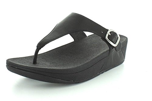 Fitflop Mujeres The Skinny Leather Flip Flops Todo Negro Hdo Sport Travel Protector Solar (15 Spf) Spray Bundle