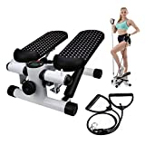 Office Stepper, Household Hydraulic Mute Stepper Aerobic Twister with Adjustable Resistance Bands - Multi-Function Pedal Indoor Cardio Training Fitness Exercise Machine Equipment Treadmill