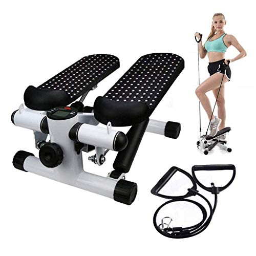Aerobic Exercise Machines - Office Stepper, Household Hydraulic Mute Stepper Aerobic Twister with Adjustable Resistance Bands - Multi-Function Pedal Indoor Cardio Training Fitness Exercise Machine Equipment Treadmill